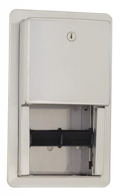 Seachrome 'CAL Series' Recessed Dual Toilet Tissue Dispenser W/ Lock - SCAL-188R
