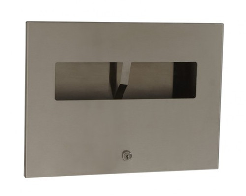 Seachrome 'CAL Series' Recessed Toilet Seat Cover Dispenser W/ Lock - SCAL-130R