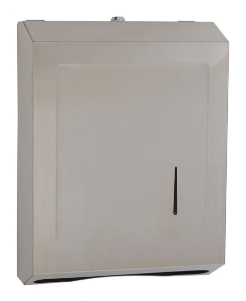 WALL-MOUNTED PAPER TOWEL DISPENSER W/ LOCK by SEACHROME | SCAL-162