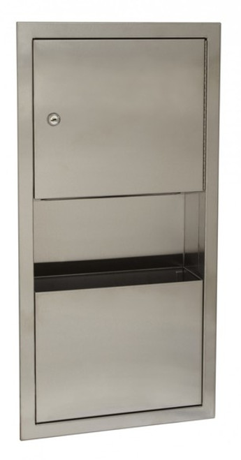 Seachrome 'CAL Series' Surface Mounted Combo Paper Towel Dispenser / Waste Receptacle W/ Lock - SCAL-169