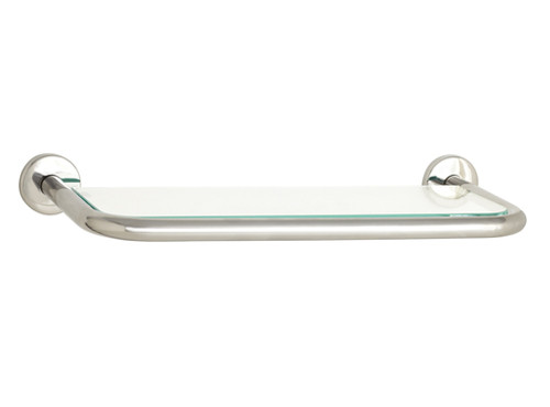 "Seachrome | 'Coronado 700 Series' 24"" Glass Shelf Satin Stainless 