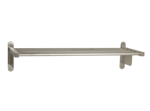 "Seachrome Commercial Stainless Steel 30"" Coat Rack With Shelf - 15840-30-SS"