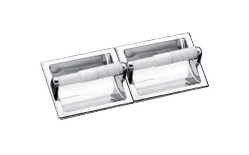 Seachrome Recessed Fixture Double Paper Holder Polished Stainless Finish (Qty = 18) - 681-2-SS