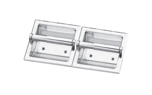 Seachrome Recessed Fixture Double Paper Holder Polished Stainless Finish (Qty = 18) - 682-2-SS
