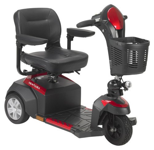"""Ventura Power Mobility Scooter, 3 Wheel, 18"""" Captains Seat"""