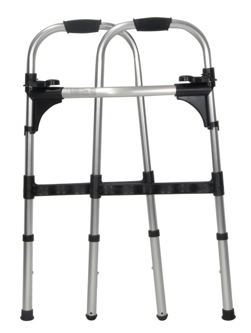 Light Weight Folding Paddle Walker, with Wheels, Adult