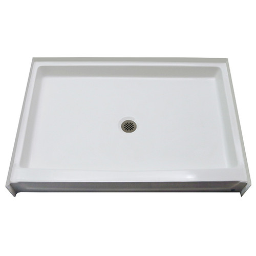 "Aquarius AcrylX™ Shower Base 54"" W x 34"" D x 6"" H Center Drain G 5434 SH PAN"