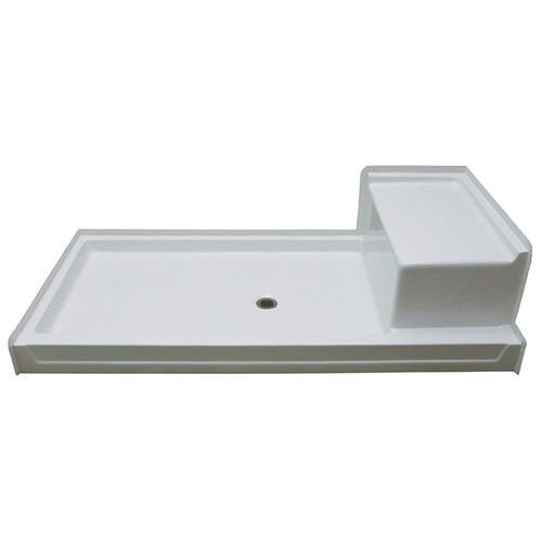 Aquarius AcrylX™ Shower Pan with seat 72″ X 36″ X 5 G 7236 SH 1S PAN