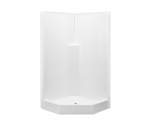 Aquarius AcrylX™ One-Piece Neo-Angle Alcove Shower 39 1/2″W X 39 1/2″W X 78 1/2″H Center Drain G 3892 SH NA