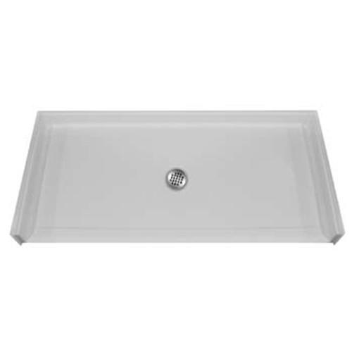 Aquarius AcrylX™ Barrier Free Shower Pan 60″W X 33 3/8″D X 3/4″H Center Drain | MPB 6033 BF .75 C