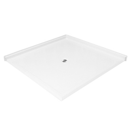"Aquarius AcrylX™ Barrier Free Double Entry Corner Shower Pan 50""W x 50""D x 4.5""H MPB 4848 BF DE 1.0"