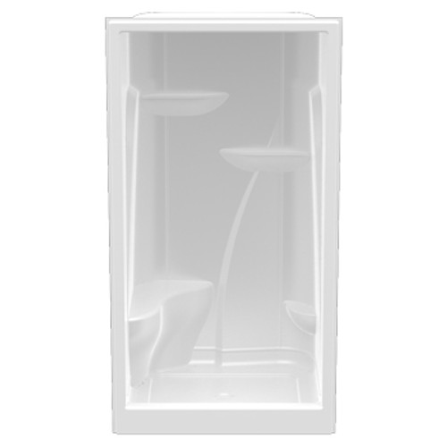 """Aquarius Acrylic Extra-tall Enclosed Alcove Shower One Seat 48""""W x 36""""D x 90""""H Center Drain A 4890 SH 1S"""