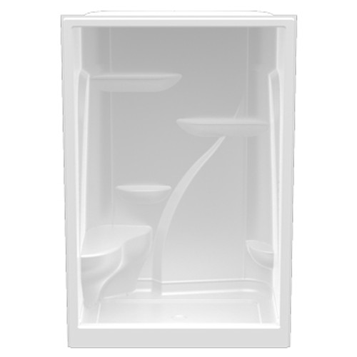 Aquarius Premium Acrylic Extra-tall Domed | Enclosed Shower with One Seat | 60W x 36D x 90H | Center Drain | A6090SH1S , Domed shower, Enclosed shower, one-piece shower, 1 piece shower, acrylic shower, tall shower, extra tall shower, discount shower, cheap shower, low price shower, best price shower, value shower, accessible shower.
