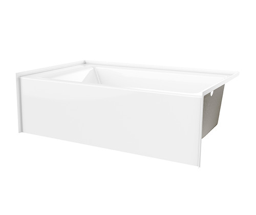 Aquarius AcrylX™ G 6036 TO MIN Alcove Bathtub 37″ X 60″ X 22″  Key benefits Modern minimalist soaking tub. Alcove bath Integral tiling flange(3T) Above floor rough Integral 19 in. skirt Slip-resistant textured bottom Left or Right hand drain AcrylX™ applied acrylic surface Lifetime limited warranty Attribute set Installation type : Alcove Material : AcrylX™ Series : Residential Residential Warranty : Lifetime limited Characteristics AcrylX™ Lifetime Warranty Modern minimalist design Colors available: White, Biscuit, Bone