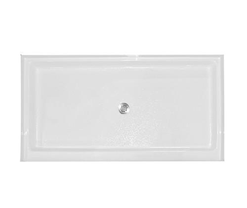 Aquarius Thermal Cast Acrylic Shower Pan 60″ X 32″ X 6″ Left or Right Drain AB 6032 C