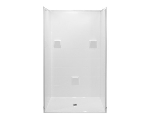 Aquarius AcrylX™ 4 Piece Reinforced Barrier-Free Shower Tile Pattern 37″ D X 48″ W X 78″ H | MP 4836 BF 4P .875 C