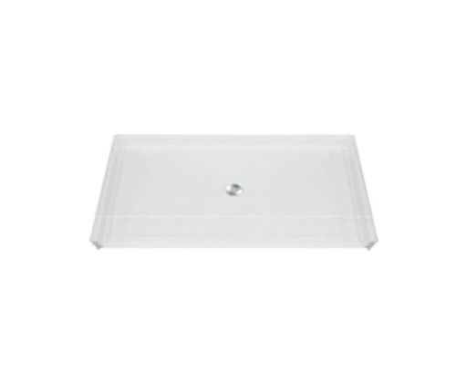 Aquarius AcrylX™ Barrier Free Shower Pan 62 7/16″ W  X 38 1/4″ D X 3/4″H Center Drain MPB 6238 BF .75 C