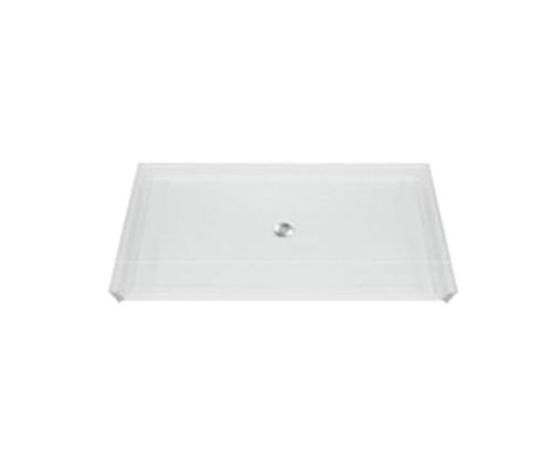 Aquarius AcrylX™ Barrier-Free Shower Pan 62 7/16″W  X  32 1/4″D  X  3/4″H Center Drain MPB 6232 BF .75 C