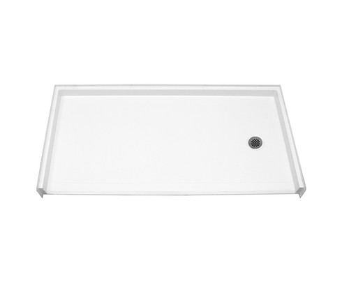 Aquarius AcrylX™ Barrier-Free Shower Pan 62 5/8″ W X 32 1/4″D X 1″ H Right Drain MPB 6232 BF 1.0 R