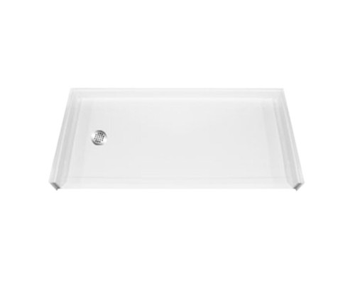 Aquarius AcrylX™ Barrier Free Shower Pan 60″W X 33 3/8″D X 1″H Left Drain | MPB 6033 BF 1.0 L