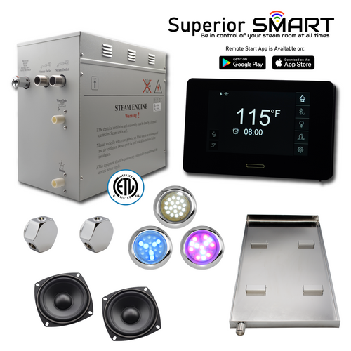 12 kW Superior SMART Steam Generator Kit by Homeward Bath SP12T1DP nationwidebath.com