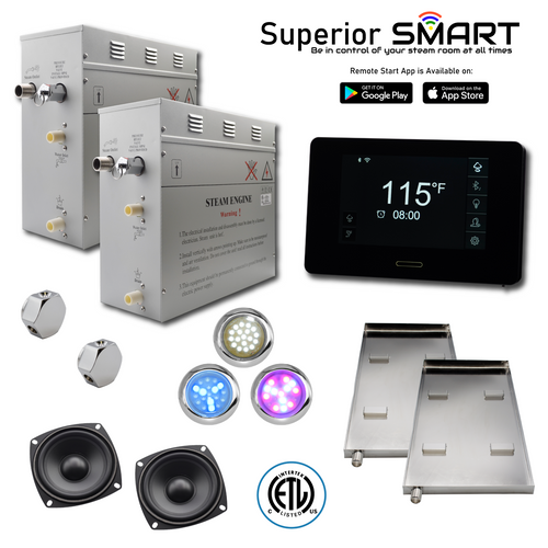 Homeward Bath 18 kW Superior SMART Steam Generator Kit SP18T1DP nationwidebath.com