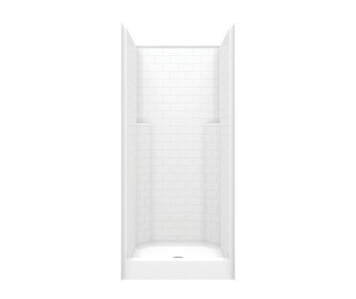 Aquarius Acrylx™ One Piece Alcove Shower Subway Tile 36″ X 37 1/4″ X 81 1/4″ Center Drain G 13636 SH SST