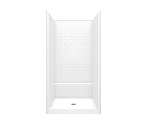 Aquarius Acrylx™ One Piece Alcove Shower Subway Tile Look 42″ X 43″ X 80″ Center Drain