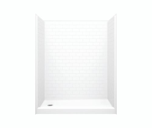 Aquarius AcrylX™ One Piece Alcove Shower Subway Tile Look 60″ X 31 1/4″ X 76 1/4″ L/R Drain G 16030 SH SST