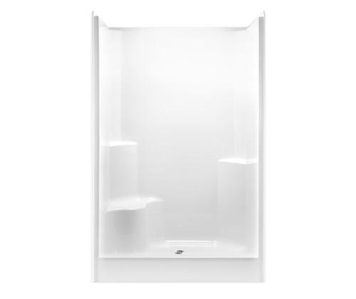 Aquarius AcrylX™ One Piece Alcove Shower 48″ X 36 1/4″ X 78″ L/R Seat Center Drain G 4887 SH 1S