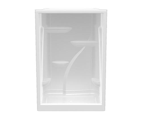Aquarius Premium Extra-tall Acrylic Domed Alcove Shower 60″ X 35 3/4″ X 90″ Center Drain A 6090 SH NS