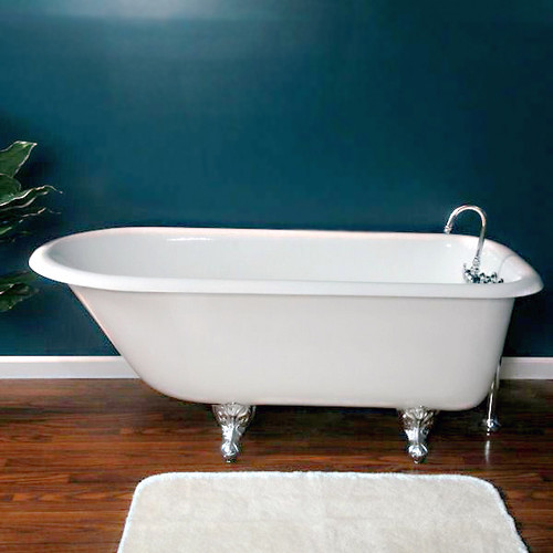 "Cambridge Plumbing - Cast-Iron Rolled Rim Clawfoot Tub 61"" X 30"" - RR61"