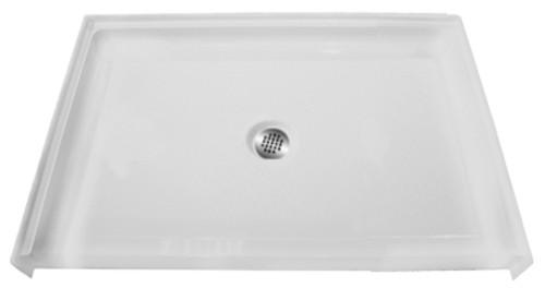 "Aquarius AcrylX™ Barrier Free Shower Pan 38 5/8″ W X 38 5/8″ W X 1/2""H Center Drain MPB 3838 BF .5 C"