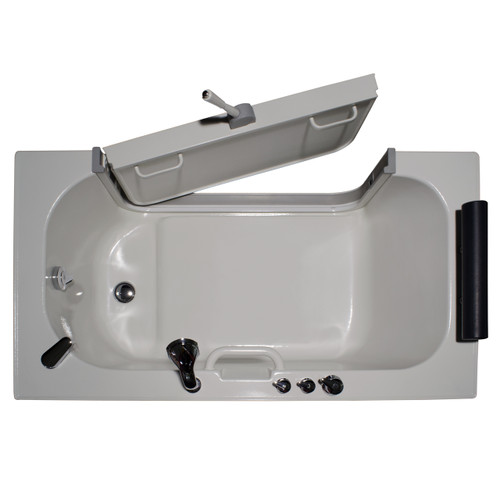 "Homeward Bath Sit-In Tub Warm air jets & 3ft Wide Out Open Door 59x32"" Neptune Series HY1242"