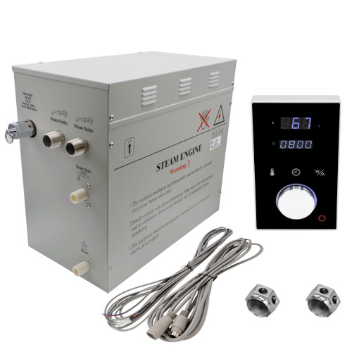 Superior DeLuxe 12 kW Steam Generator Kit with black Keypad by Homewardbath SP12HB nationwidebath.com