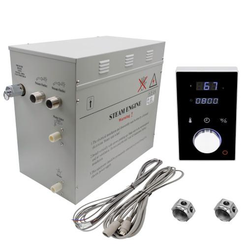 Superior DeLuxe 12 kW Steam Generator Kit with black Keypad by Homewardbath SP12HB nationwidebath.com