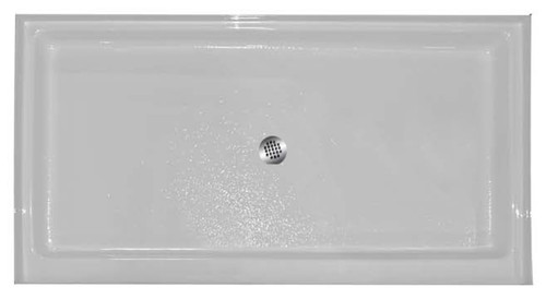 "Aquarius | Premium Cast Acrylic shower Pan | 48W x 34D x 5.25H | 4"" threshold 