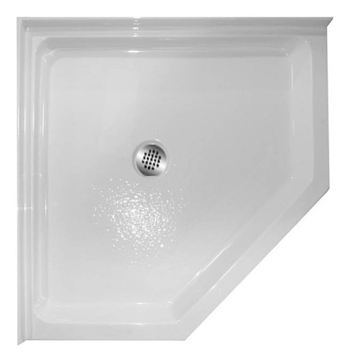 Aquarius ABC 3838 Premium Thermal Cast Acrylic Neo-Angle Corner Shower Pan Center Drain 38″ X 38″ X 4″ cheap shower base, discount shower base, low price shower base, best price shower base, tile shower base, accessible shower base, aging in place shower base, no threshold shower base, low threshold shower base, Sectional shower, cheap shower pan, low price shower pan, discount shower pan, best price shower pan, accessible shower pan, Handicap accessible shower pan, accessible shower pan