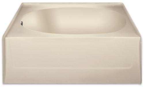 Aquarius 60 x 42 Residential Gelcoat Oval Soaking Tub - Drain Left - G2406TOL