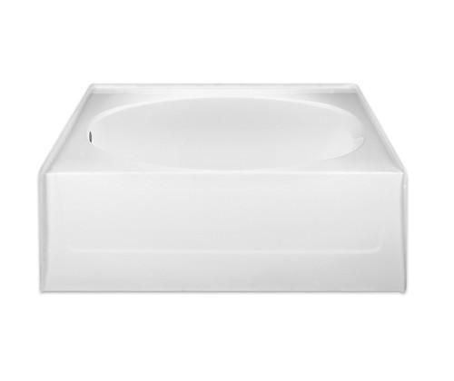 Aquarius AcrylX™ One Piece Oval Alcove Bathtub Tub 60″W X 42″D X 22 3/8″H - G 2406 TO