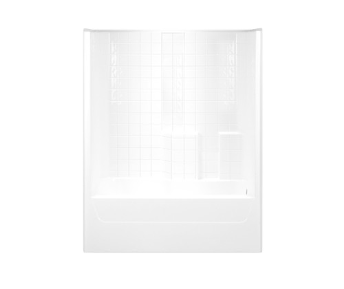 Aquarius AcrylX™ One-Piece Tub Shower 60″W X 32 1/2″D x 74″H Tile Pattern G 3206 TS Tile