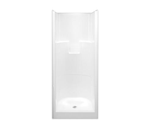 2 Piece Alcove Shower 31.75W x 33.75D x 76H Center Drain G 3275 SH 2P