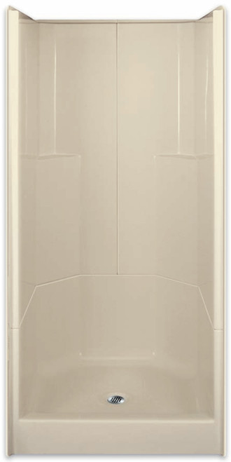 Aquarius AcrylX ™ 3-Piece Sectional Shower | 36W x 36D x 77.75H | Center Drain | G3679SH3P,  remodel shower, multi-piece shower, 2 piece shower, low threshold, two piece, two piece shower, Cheap sectional shower, Discount standard sectional, low price shower, best price shower, cheap one piece shower, grab bar shower, cheap shower, Discount shower, aging in place shower, accessible showers,