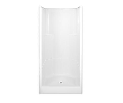 Aquarius AcrylX ™ 3-Piece Alcove Shower 36W x 36D x 77.75H Center Drain G 3679 SH 3P