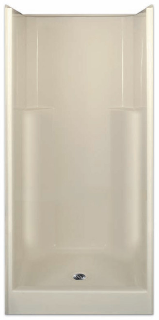 Aquarius Gelcoat 36 x 36 Residential Shower Smooth Wall w/ Center Drain - G3679SH