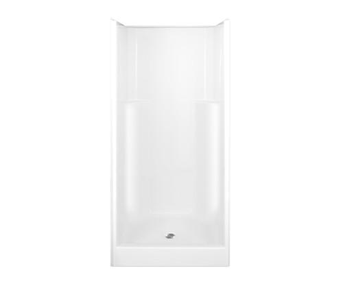 Aquarius AcrylX™ Alcove Shower Smooth Wall Center Drain 36″ X 36″ X 77 3/4″ G 3679 SH