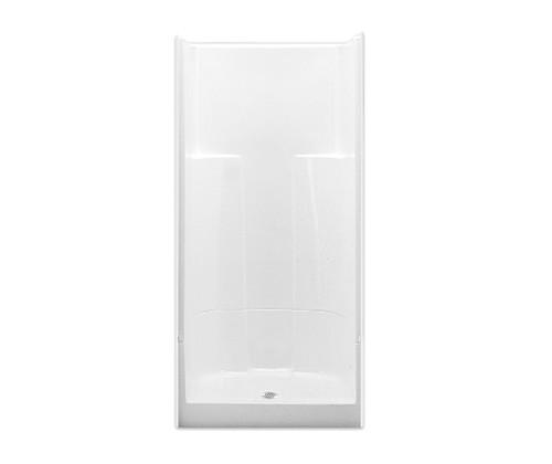 Aquarius AcrylX ™ 2 Piece Alcove Shower 36W x 36D x 78H Center Drain G 3687 S 2P