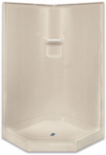 "Aquarius AcrylX ™ | 2-Piece Corner Shower | 41""W x 41""D x 80"" H 