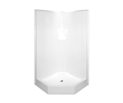 "Aquarius AcrylX ™ 2 Piece Neo Angle Alcove Shower 41""W x 41""D x 80"" H Center Drain G 4080 NA 2P"