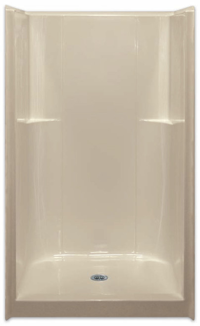 Aquarius ACRYLX™ 42W x 37D x 74H Shower Smooth Wall Center Drain G4236SH